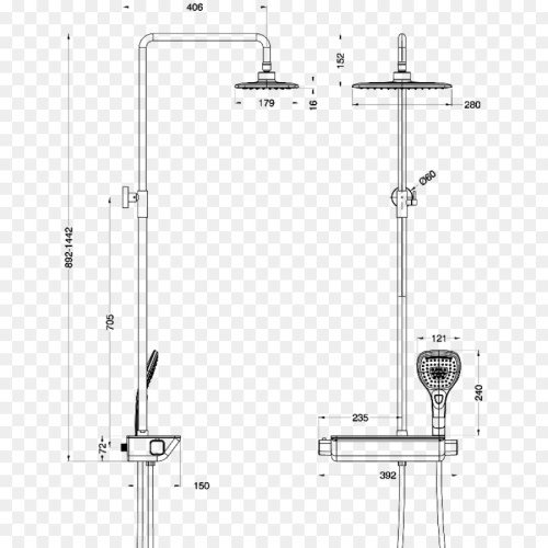 small resolution of drawing plumbing fixtures thermostatic mixing valve structure line png