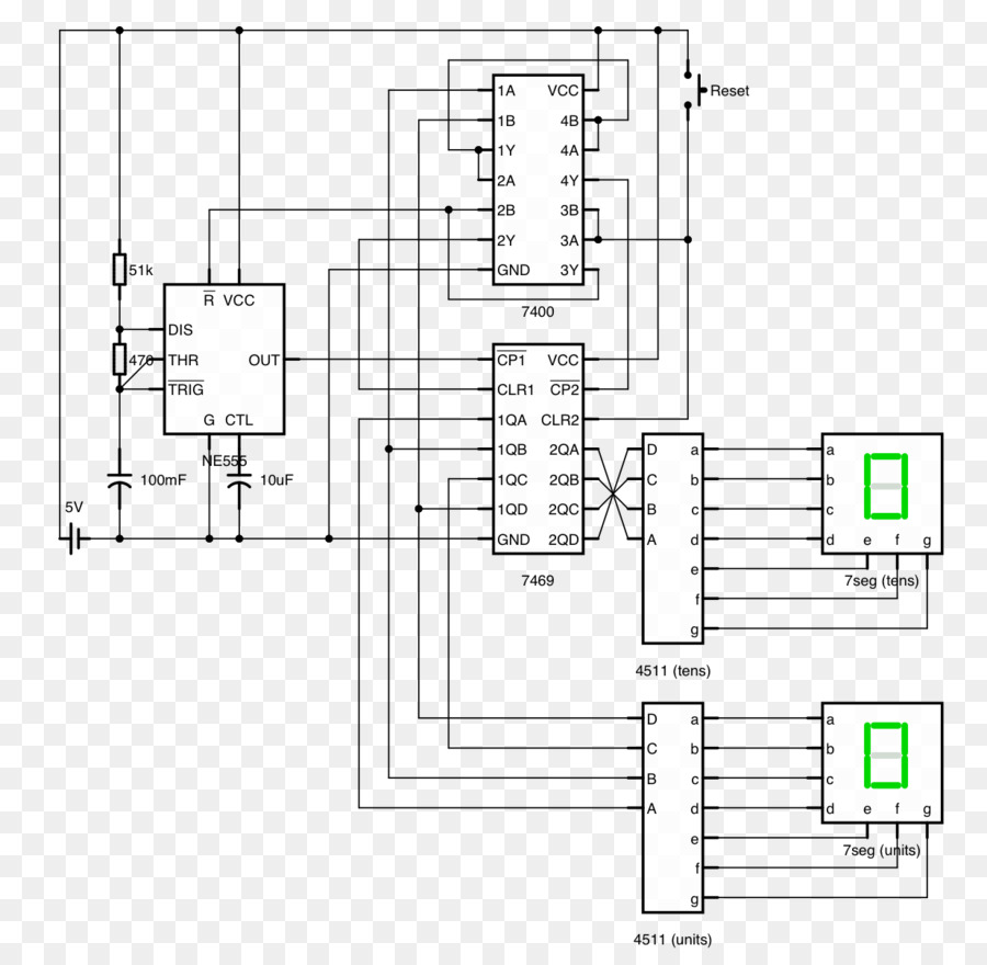 medium resolution of counter circuit diagram seven segment display circuit design electronic circuit others