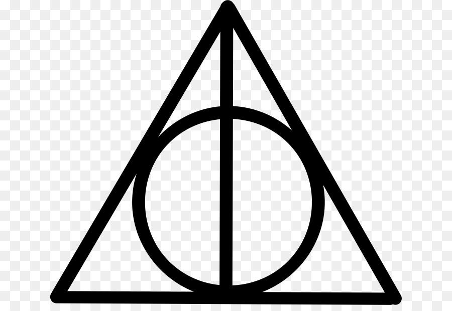 Гарри Поттер и Дары Смерти символ плаща невидимости в