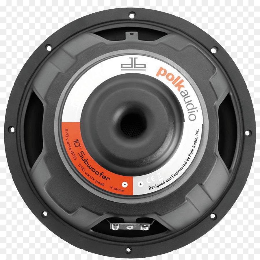 hight resolution of subwoofer loudspeaker polk audio car subwoofer png
