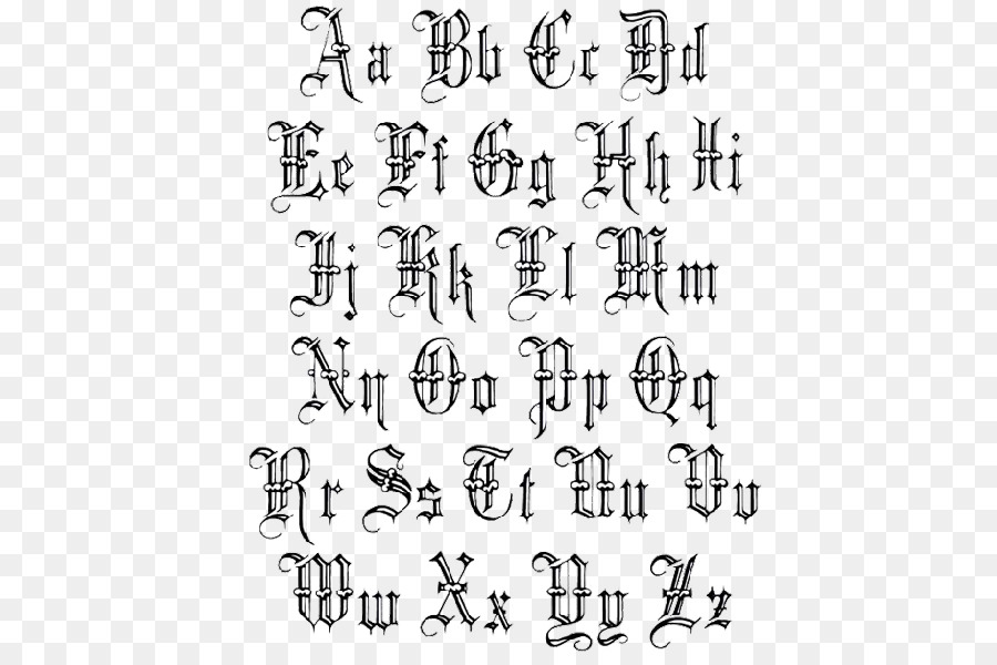 Old english tattoo fonts download