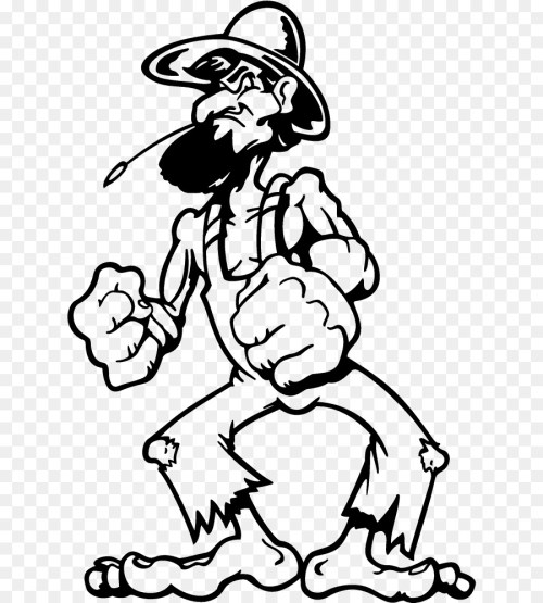 small resolution of hillbilly redneck decal white black png