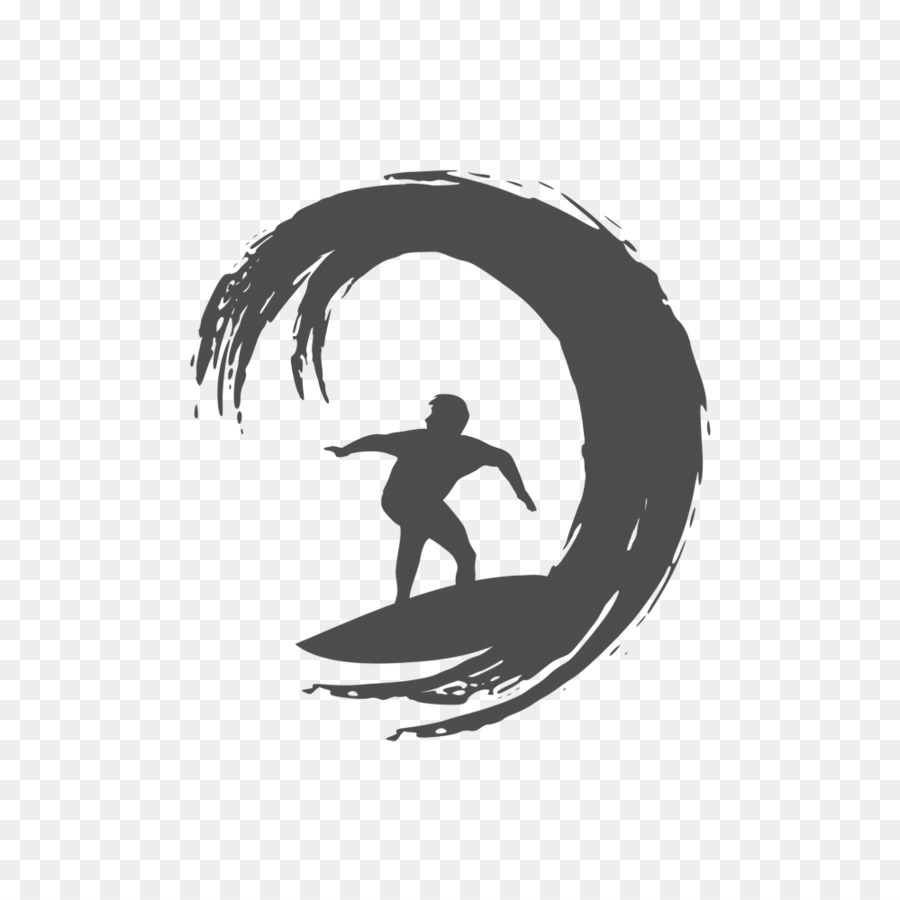 hight resolution of logo surfing silhouette black png