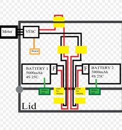 wiring diagram schematic electric skateboard electronics electric sparks [ 900 x 920 Pixel ]