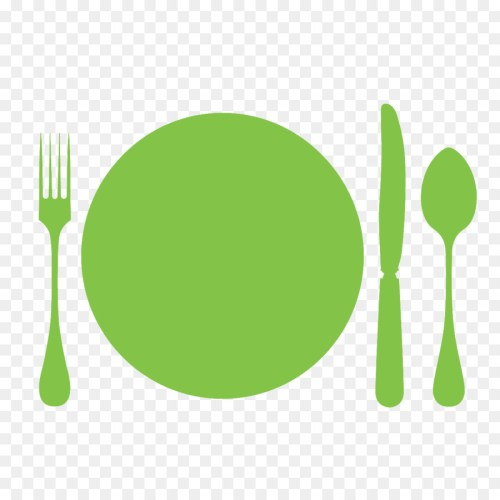 small resolution of fork spoon cutlery green png
