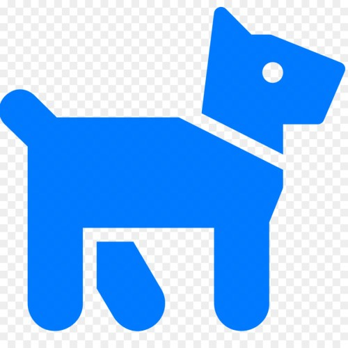 small resolution of dog computer icons canidae blue text png