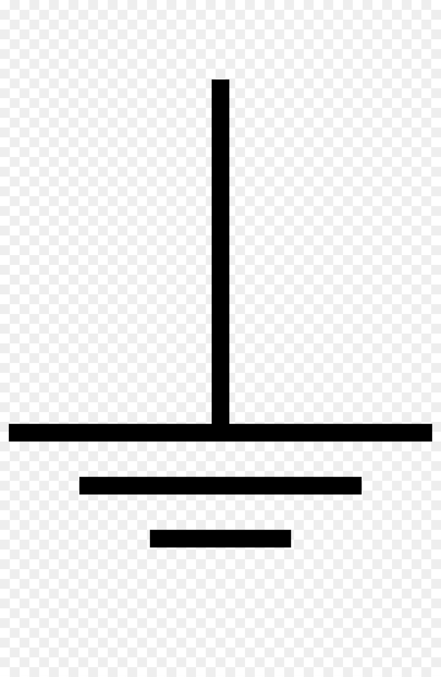 hight resolution of ground electronic symbol circuit diagram black line png