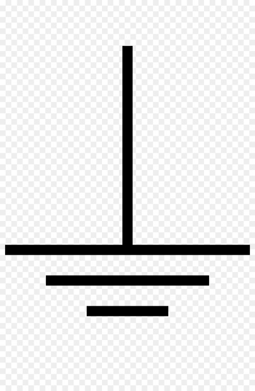 small resolution of ground electronic symbol circuit diagram black line png