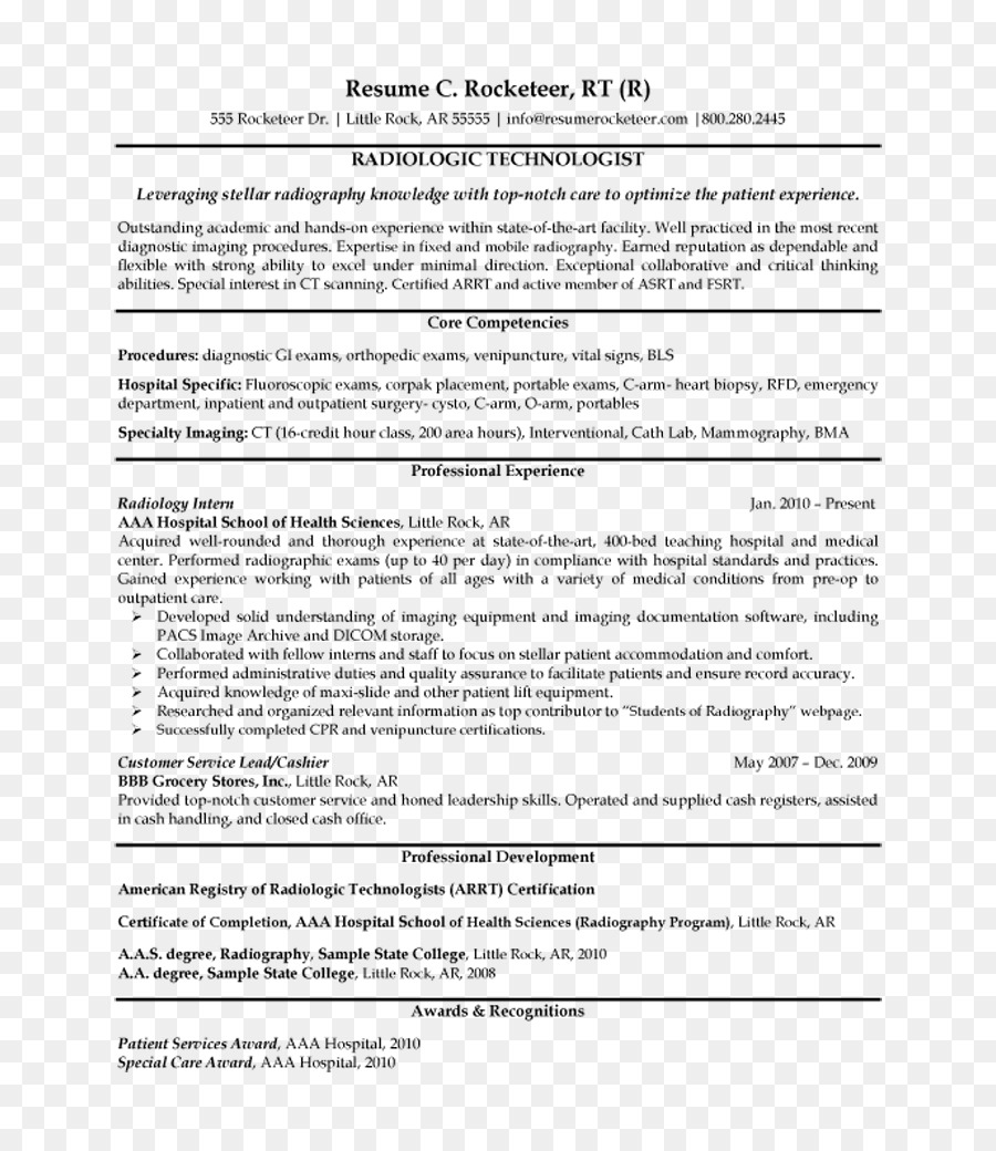Sample Radiographer Resume Templates Best Of Medical