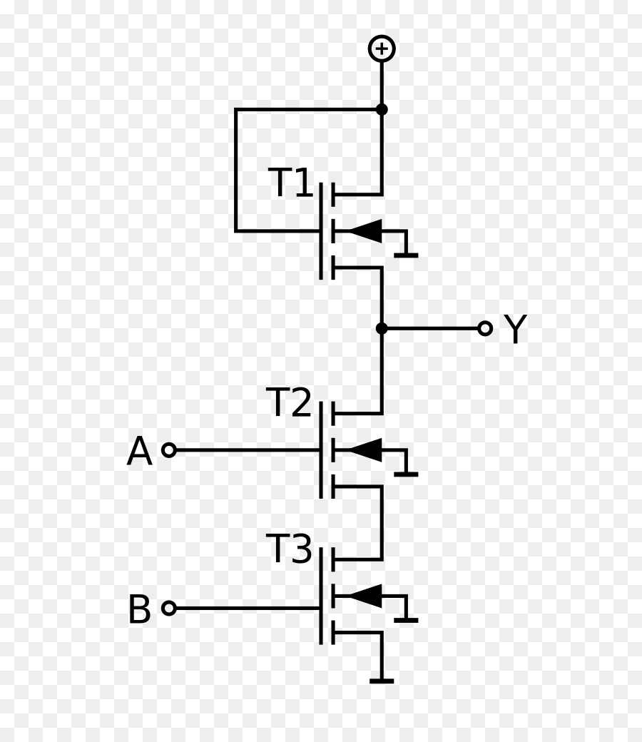 medium resolution of nmos logic nand gate mosfet text diagram png