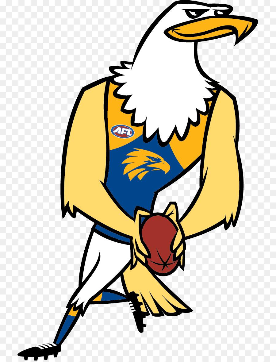 hight resolution of west coast eagles 2017 afl season mascot yellow beak png