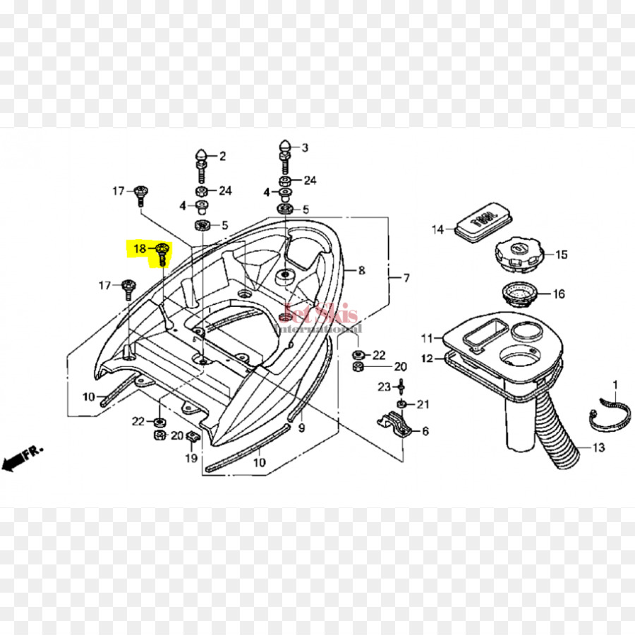 hight resolution of honda car personal water craft auto part drawing png