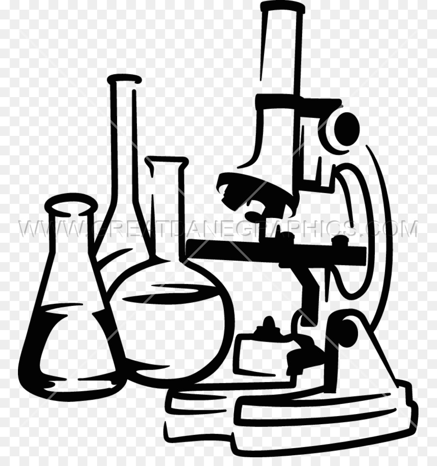hight resolution of drawing microscope optical microscope black and white line art png