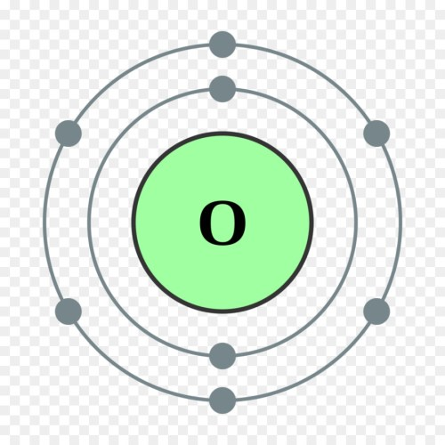 small resolution of atom oxygen bohr model green circle png