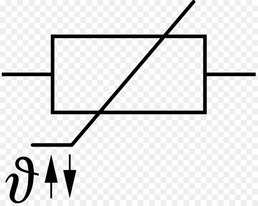 thermistor symbol electrical diagram energy band for conductors insulators and semiconductors wiring block photoresistor electronic heissleiter png sama symbols