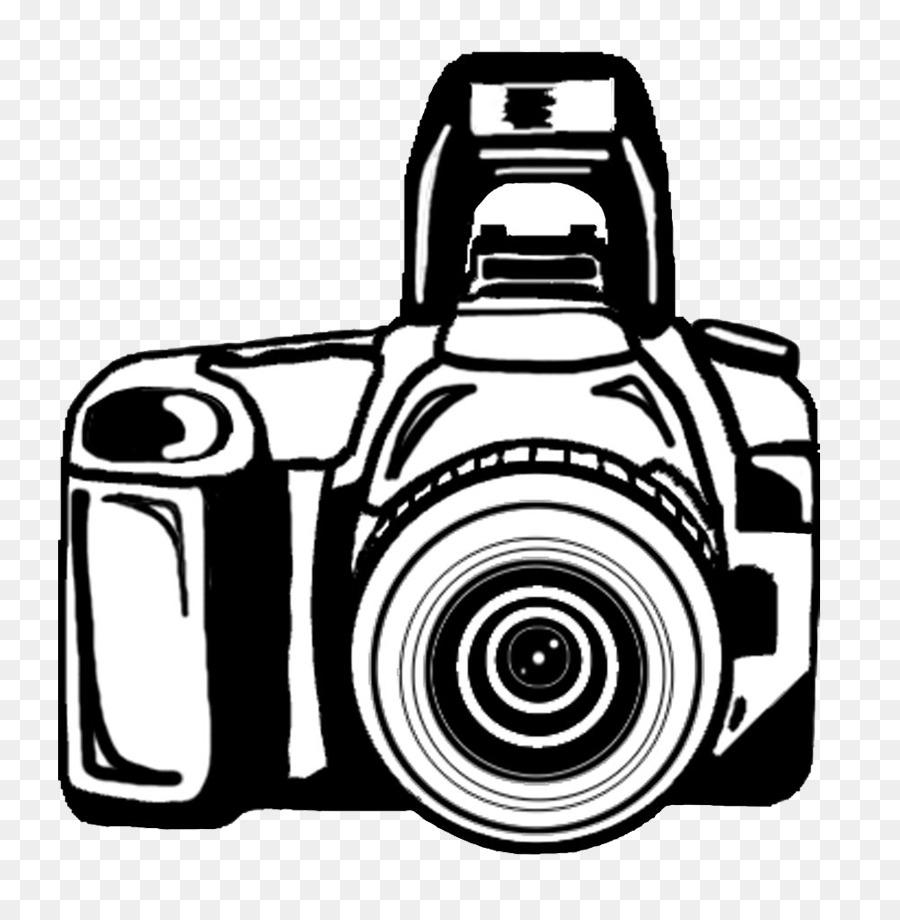 Fotografie in Schwarz und weiß Instant camera Clip art