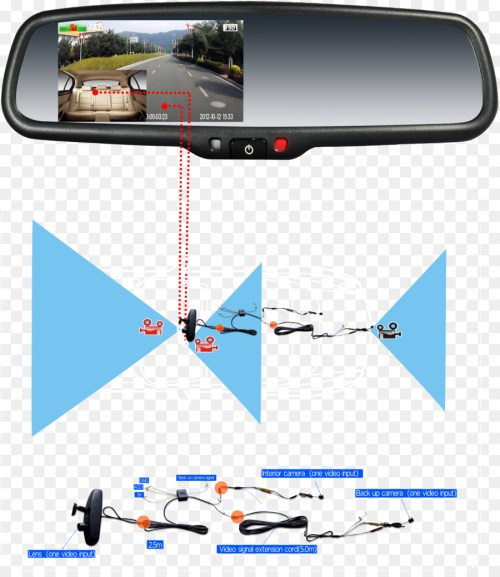 small resolution of car backup camera dashcam rear view mirror car