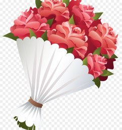flower bouquet rose drawing flower pink png [ 900 x 1040 Pixel ]
