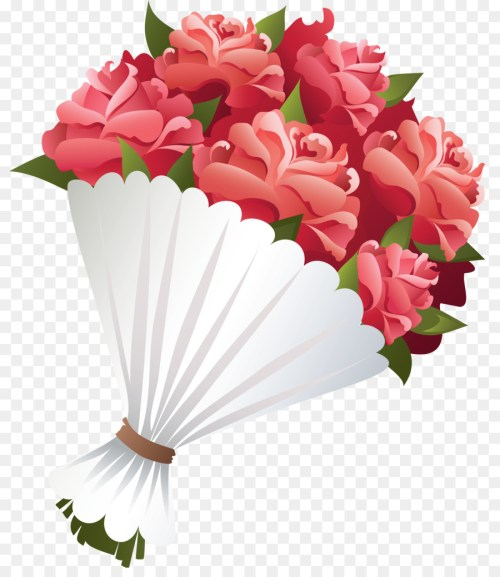 small resolution of flower bouquet rose drawing flower pink png