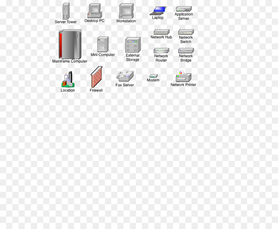 Equipo de diagrama de red de Microsoft Visio Stencil