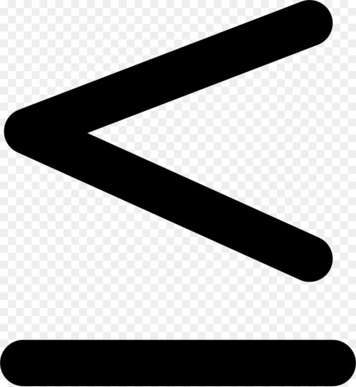 small resolution of lessthan sign greaterthan sign symbol black and white line png