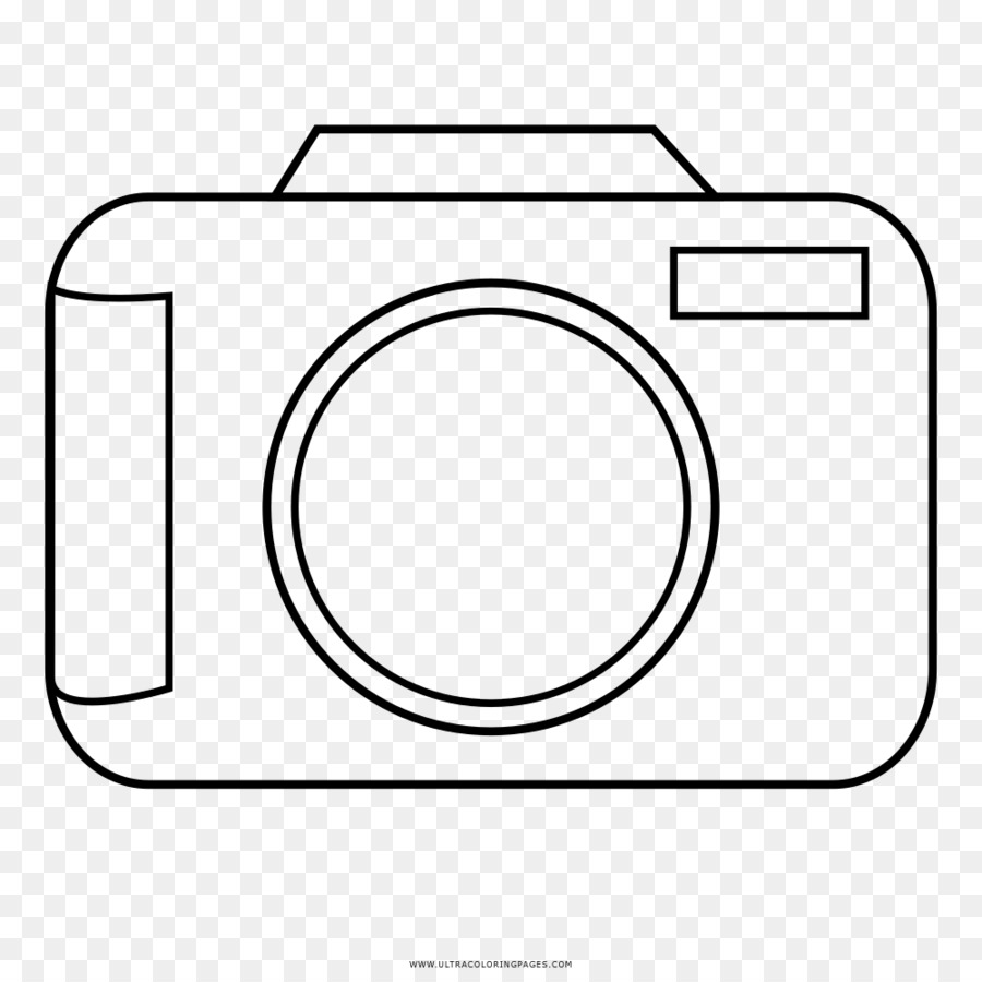 Camera Line Art Camera Coloring Page Free Transparent