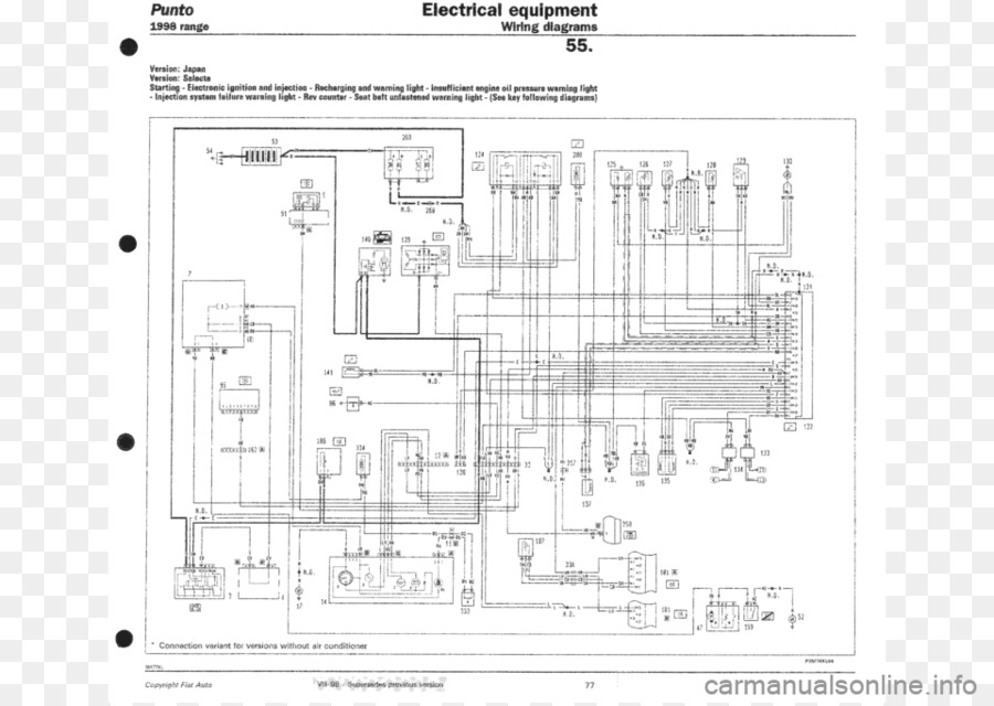 Fiat Panda 169 Wiring Diagram The FIAT Car