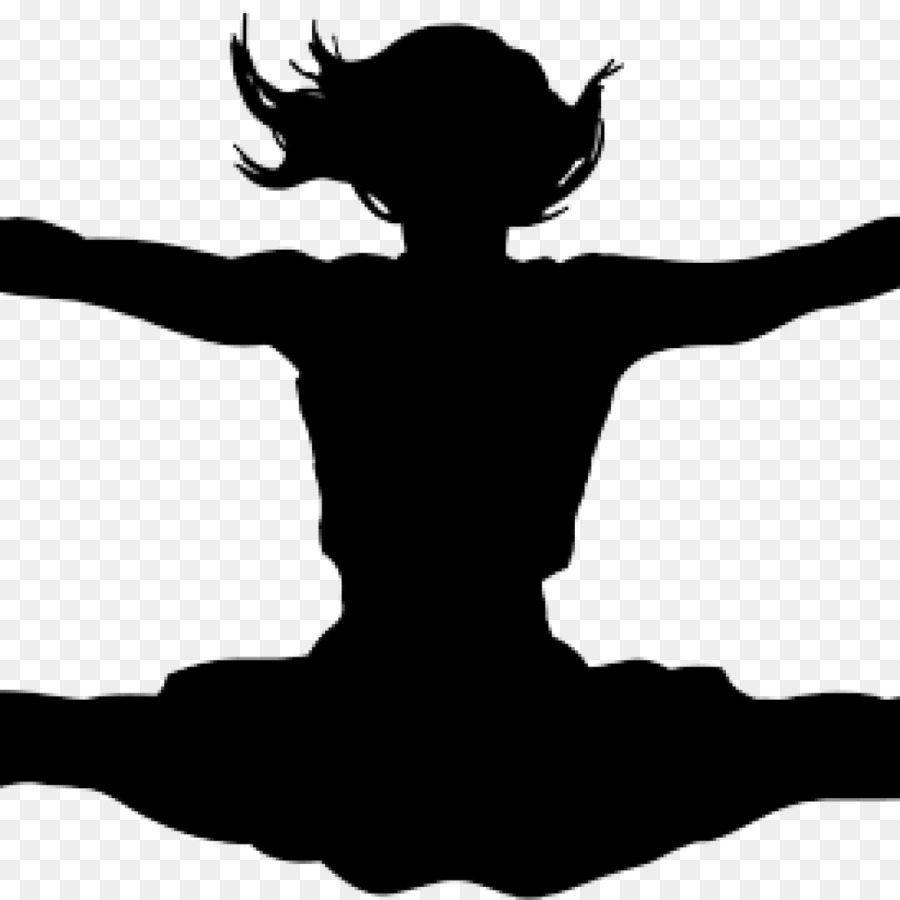hight resolution of cheerleading silhouette computer icons black and white png