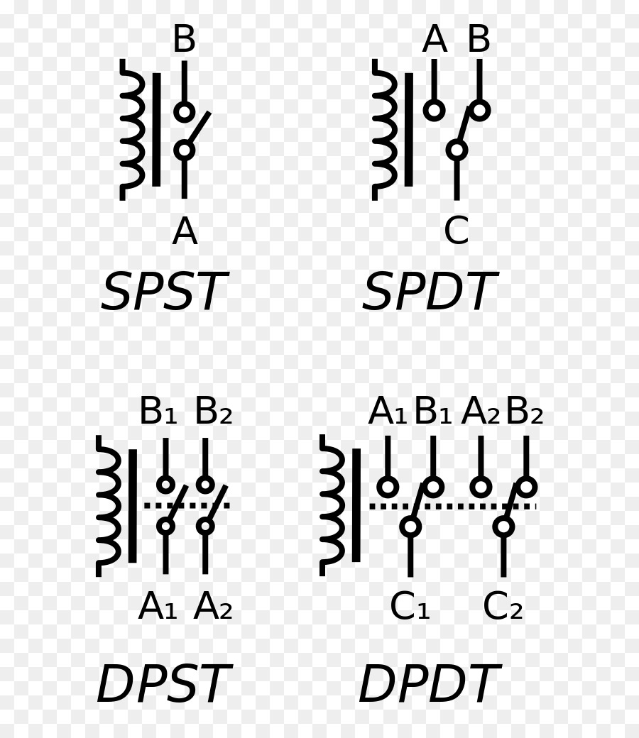 hight resolution of relay electronic symbol electrical switches text white png