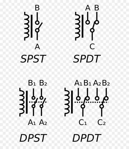 small resolution of relay electronic symbol electrical switches text white png