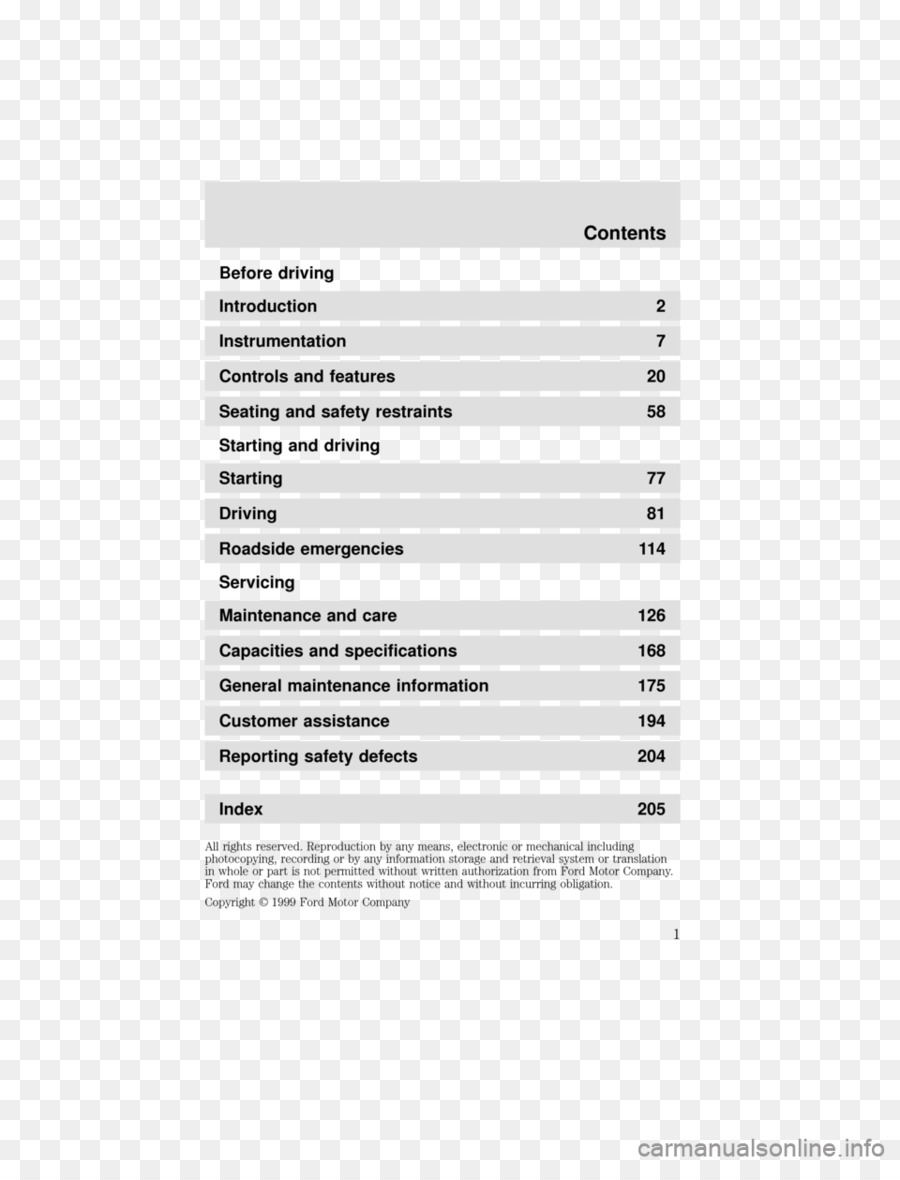 [MNL-9367] 2000 Ford Windstar Owners Manual Free Download