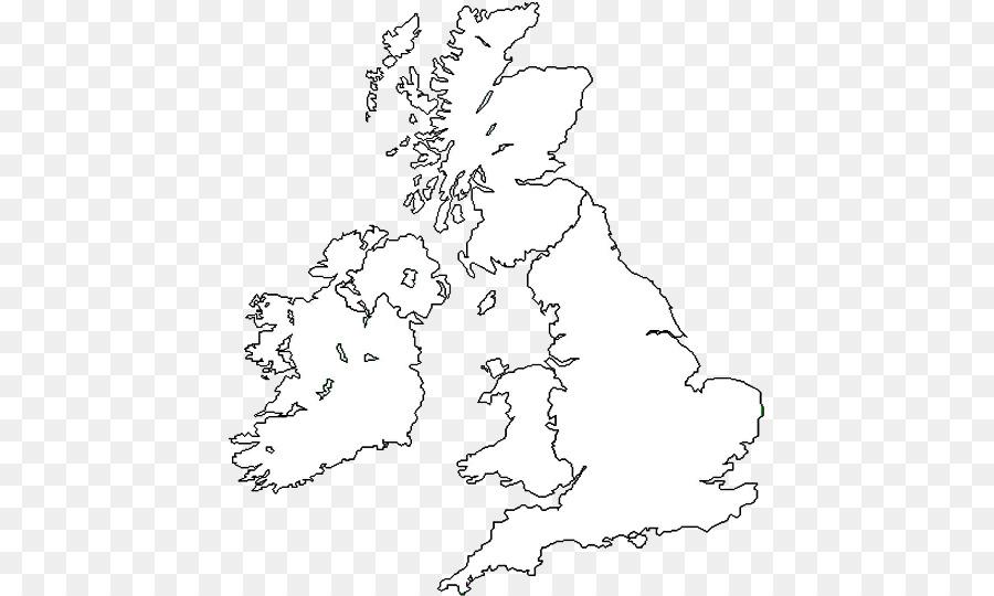 Gran Bretagna British Isles Blank map mappa del Mondo