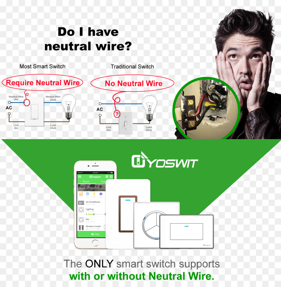 hight resolution of light switches electrical wires cable ground and neutral text technology png