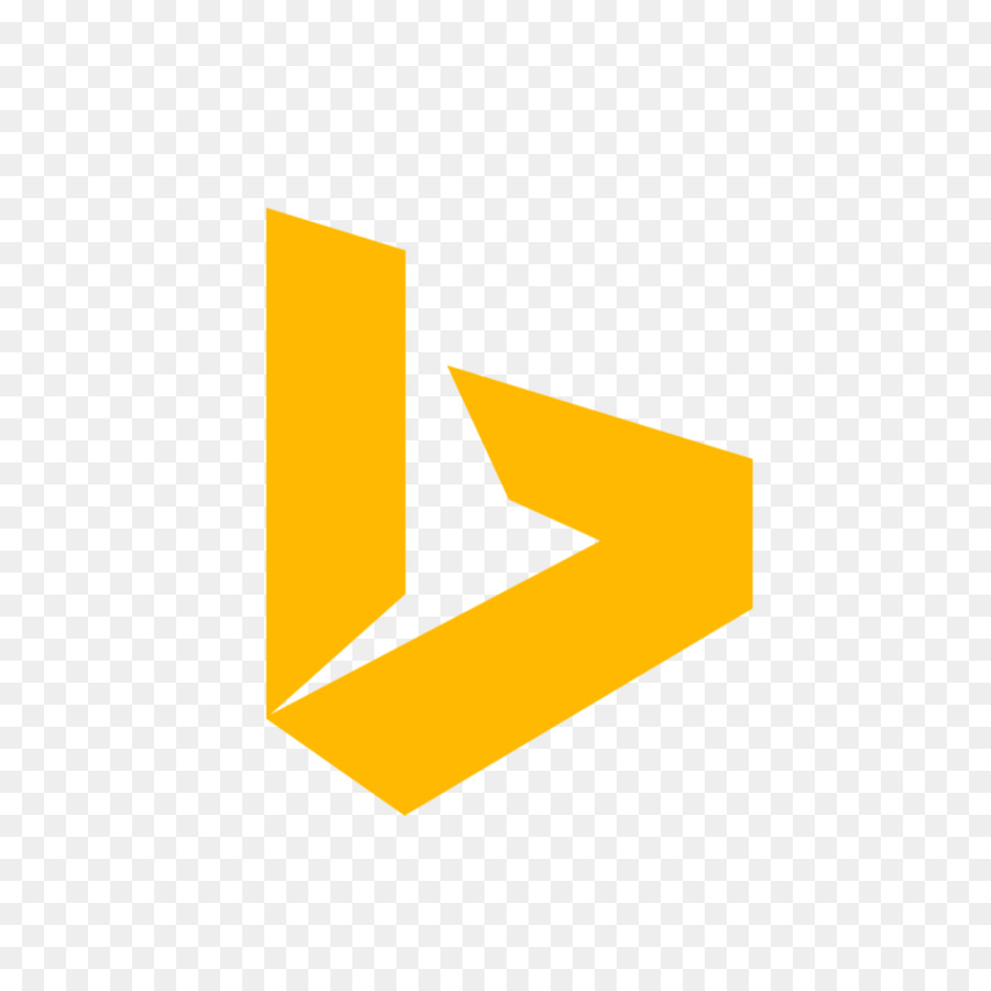 hight resolution of bing logo computer icons yellow text png