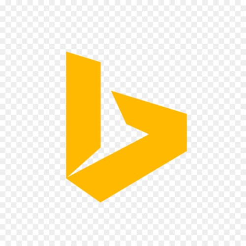 small resolution of bing logo computer icons yellow text png