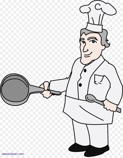 small resolution of chef cooking drawing white person png