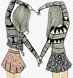 friendship drawing best friends forever image clip art bff sign png download 1024 1161 free transparent friendship day png download  [ 900 x 1040 Pixel ]