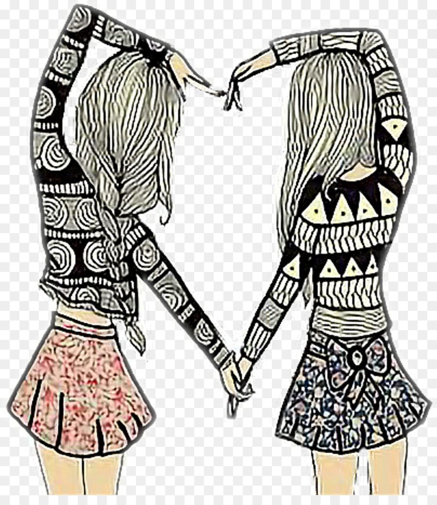 hight resolution of friendship drawing best friends forever image clip art bff sign png download 1024 1161 free transparent friendship day png download