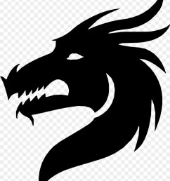 silhouette dragon royaltyfree head blackandwhite png [ 900 x 1060 Pixel ]