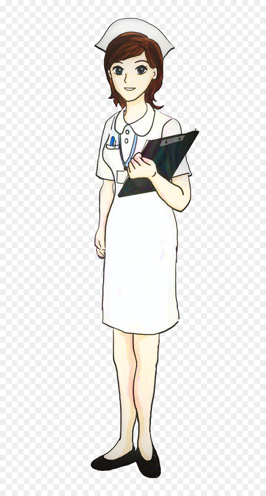 hight resolution of nursing school nursing hat cartoon standing png