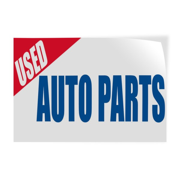 Used Auto Parts Car Body Repair Decal Sticker