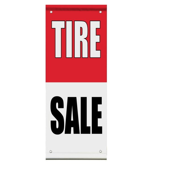 Tire Car Auto Body Repair Promotion Double Sided