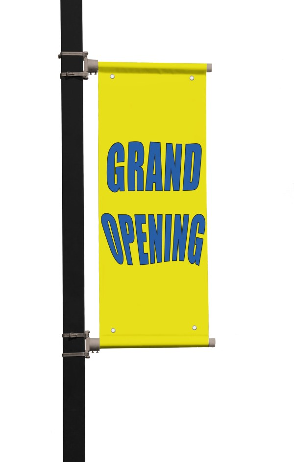 Thrift Store Red Double Sided Vertical Pole Banner Sign