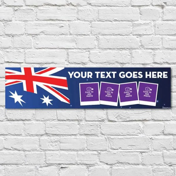 Personalised Australia Banner with photos and text