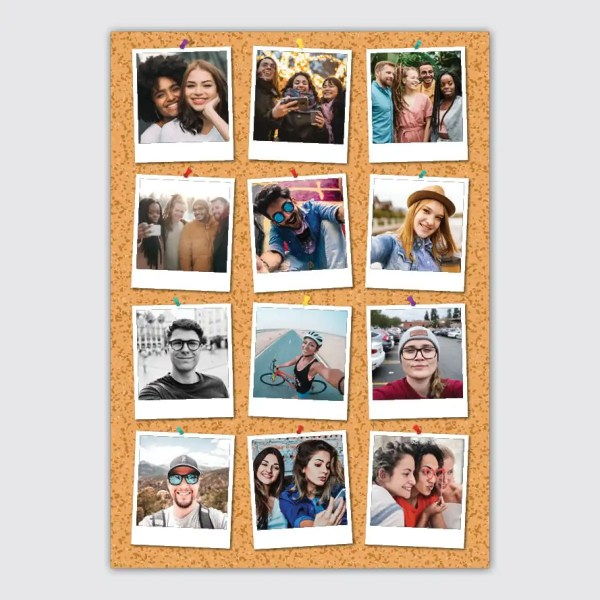 personalised notice board photo collage poster