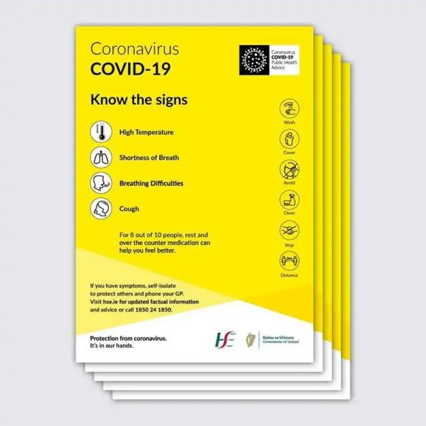 Covid 19 Symptoms Poster