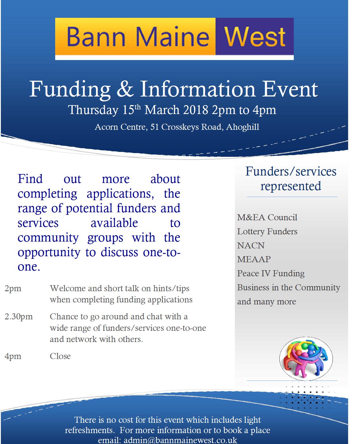 Funding Information Event – Bann Maine West