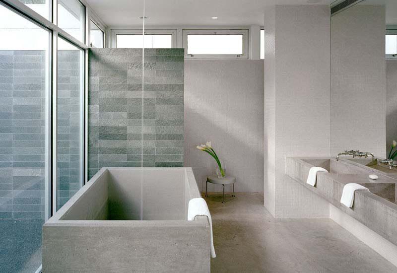 Bao minimalista con iluminacin natural  Imgenes y fotos