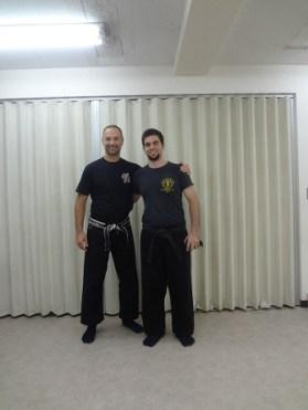 At Toku Bu Ryu Sui Bujinkan Dojo of Duncan Stewart Shihan in Japan, 2013