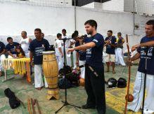 Presenting Budo Taijutsu to Capoeira Resistência, 2012. Fortaleza, Brazil.